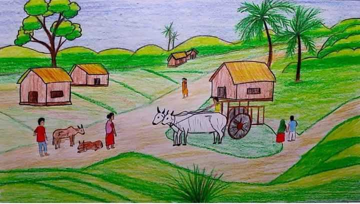 Essay On My Village in Hindi